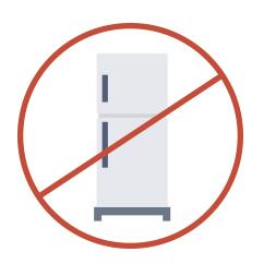Icono con prohibido refrigerar aceite de cocina